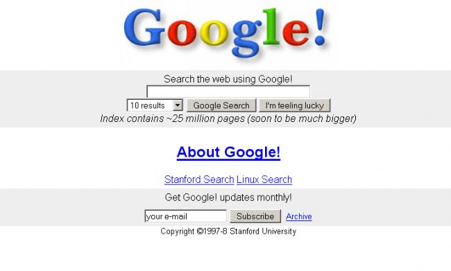 Cómo era cuando empezó Google