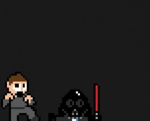 Star Wars 8 bits poster