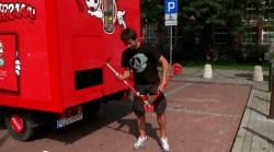 El camión de la felicidad de Coca-Cola