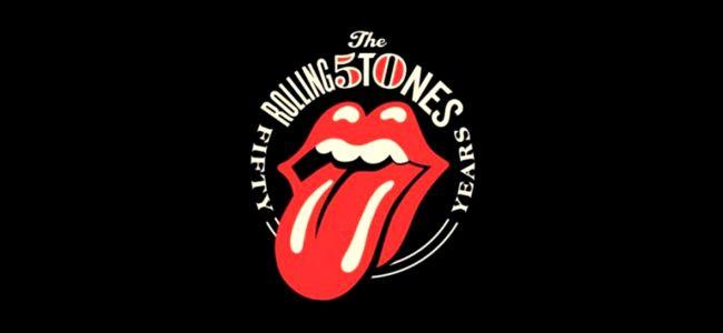 Logotipo de los Rolling Stones en su 50 aniversario