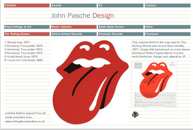 Logotipo de los Rolling Stones, creado por Pasche
