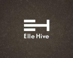 Logotipos con mensaje: Elle hive