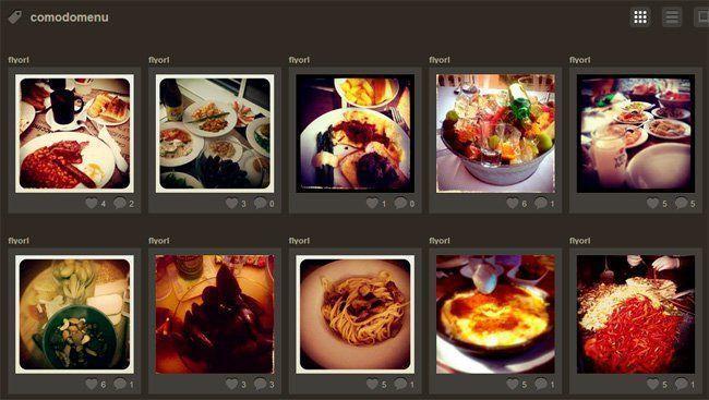Instagram para mostrar tu menu