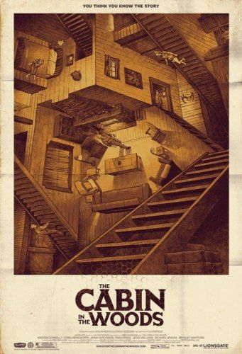Los mejores posters del 2012: Cabin in the woods