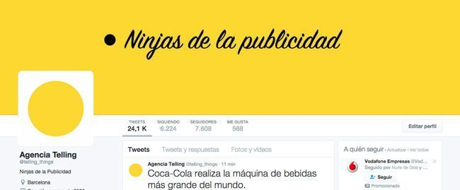 Cabecera Twitter Agencia de Publicidad Telling