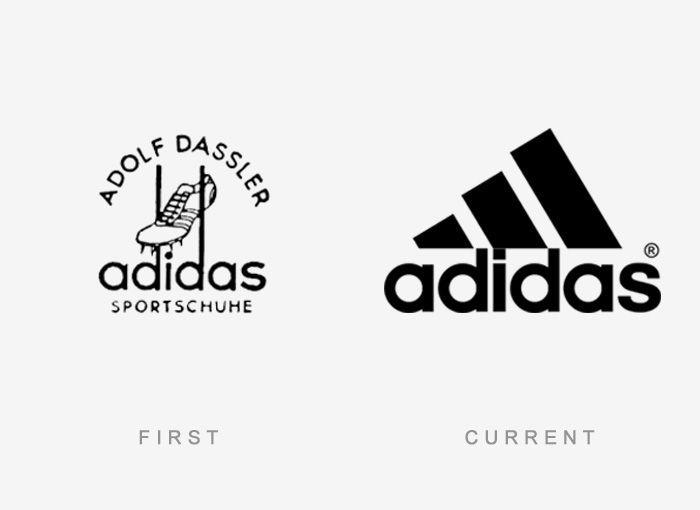 Logo Adidas Antes y Ahora