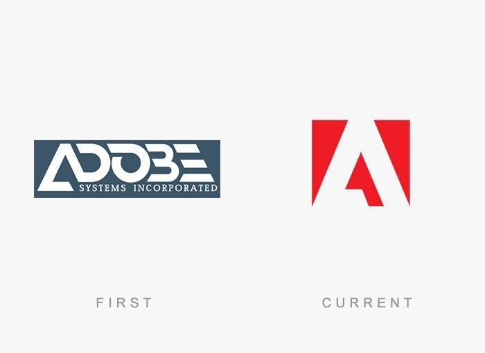 Logo Adobe Antes y Ahora