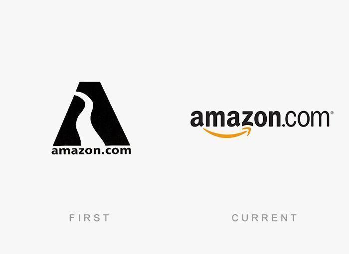 Logo Amazon Antes y Ahora