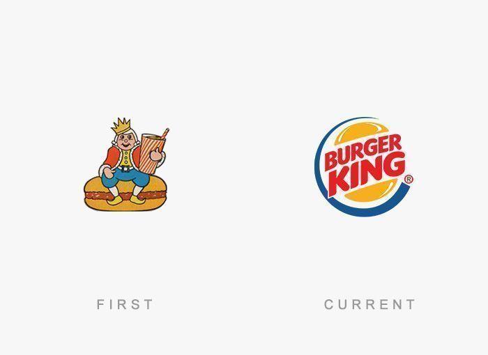 Logo Burger King Antes y Ahora