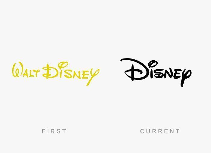 Logo Disney Antes y Ahora