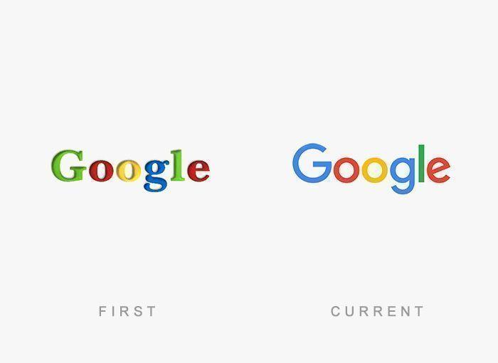 Logo Google Antes y Ahora
