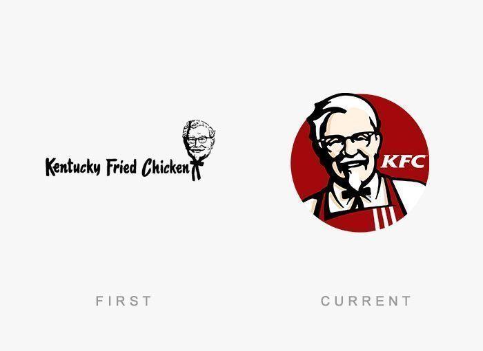 Logo KFC Antes y Ahora