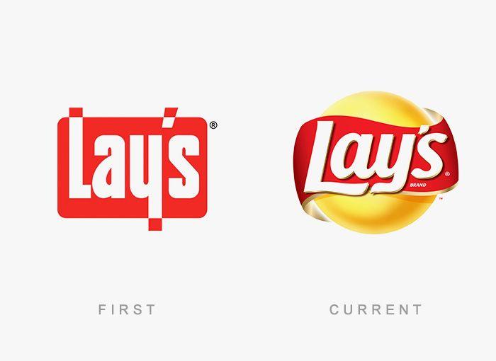 Logo Lays Antes y Ahora