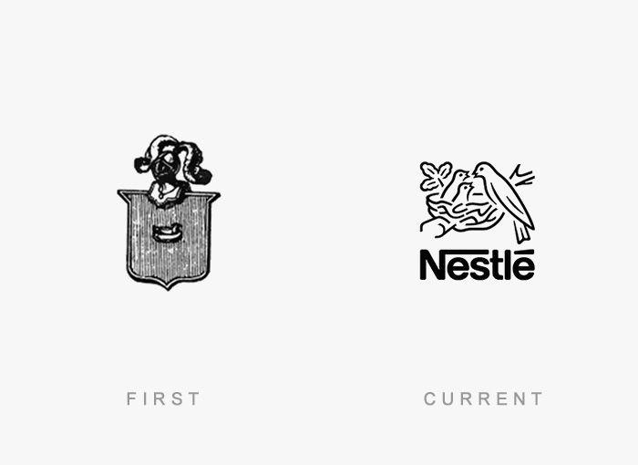 Logo Nestle Antes y Ahora