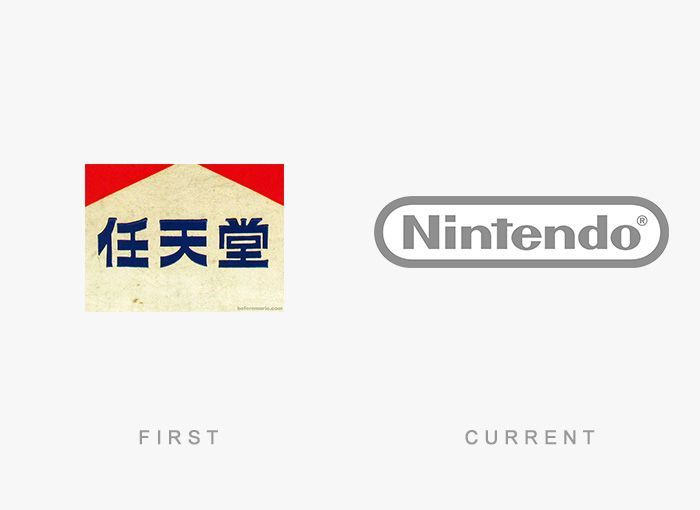 Logo Nintendo Antes y Ahora