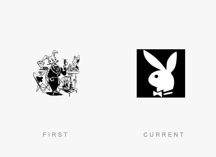 Logo Playboy Antes y Ahora