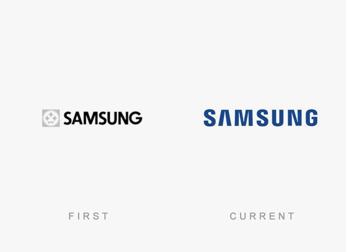Logo Samsung Antes y Ahora