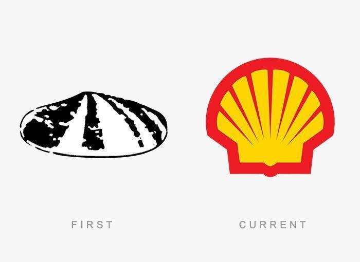 Logo Shell Antes y Ahora
