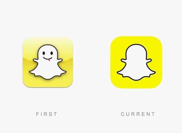 Logo SnapChat Antes y Ahora
