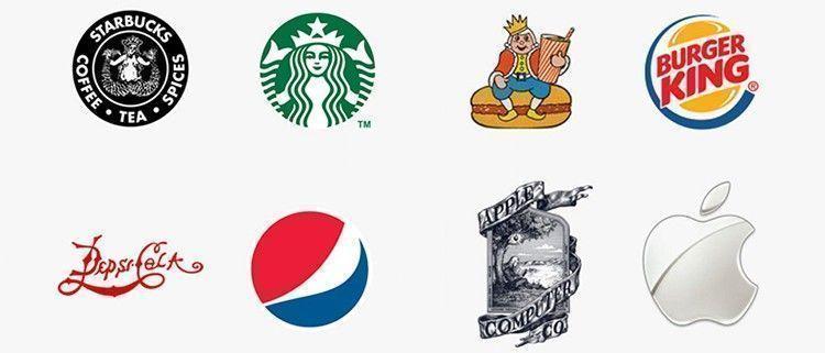 Logotipos de las marcas antes y despues