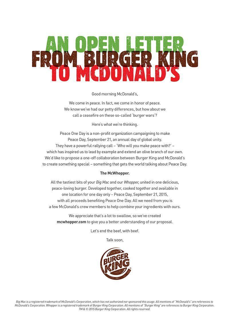 Carta de Burger King