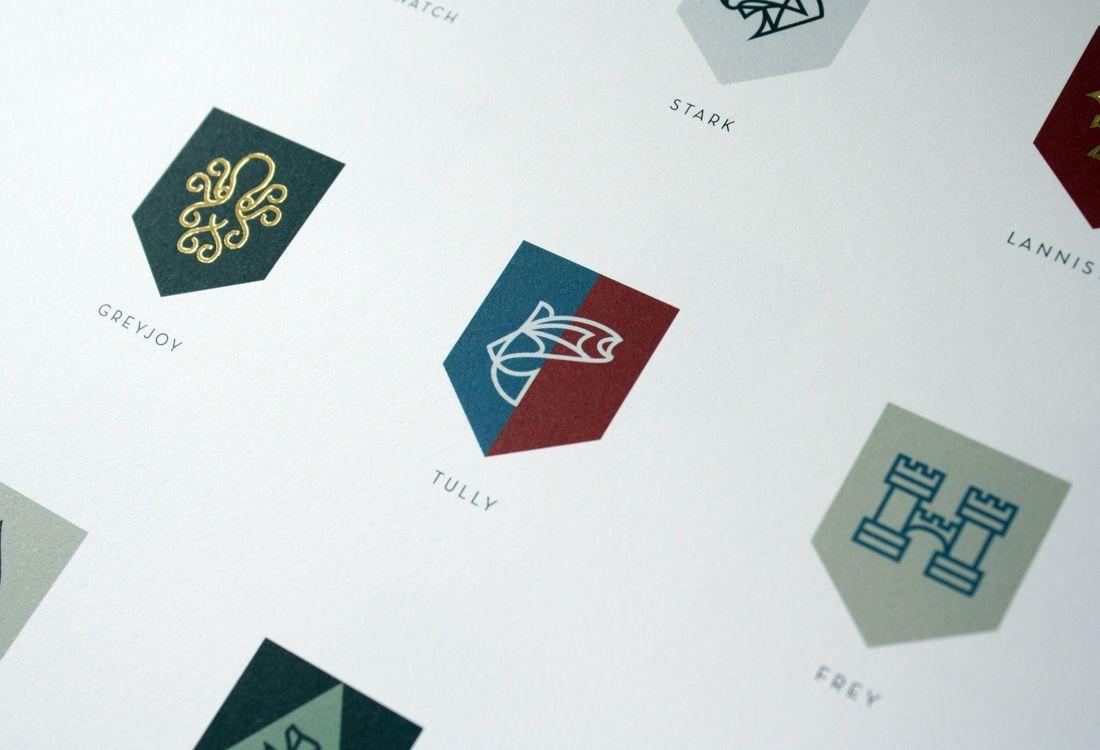Diseño Gráfico Iconografía Juego de Tronos