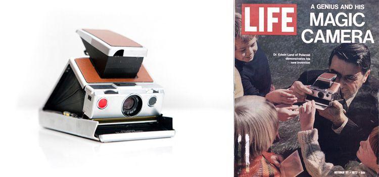 Branding de Polaroid revista LIFE