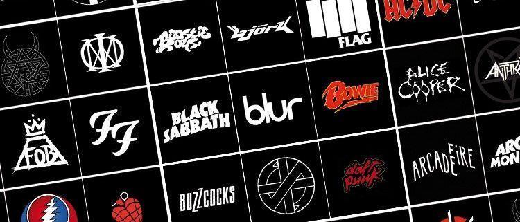 Mejores Logotipos del Rock