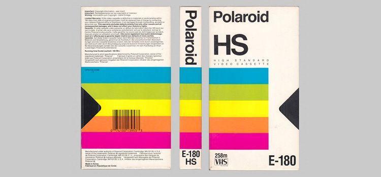 Diseño Gráfico cintas VHS años 80