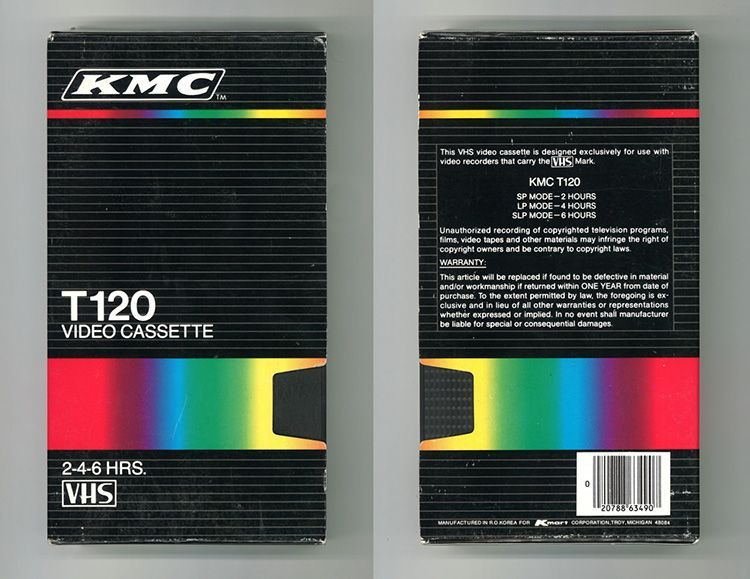 Diseño Gráfico cintas VHS: KMC