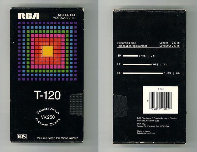 Diseño Gráfico cintas VHS: RCA
