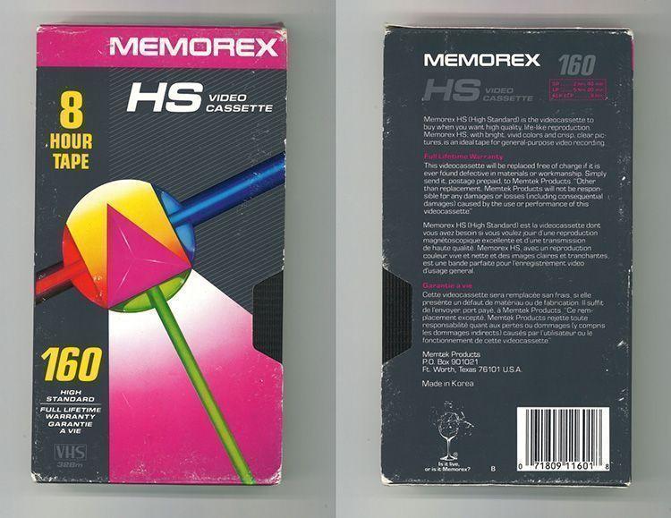 Diseño Gráfico cintas VHS: Memorex