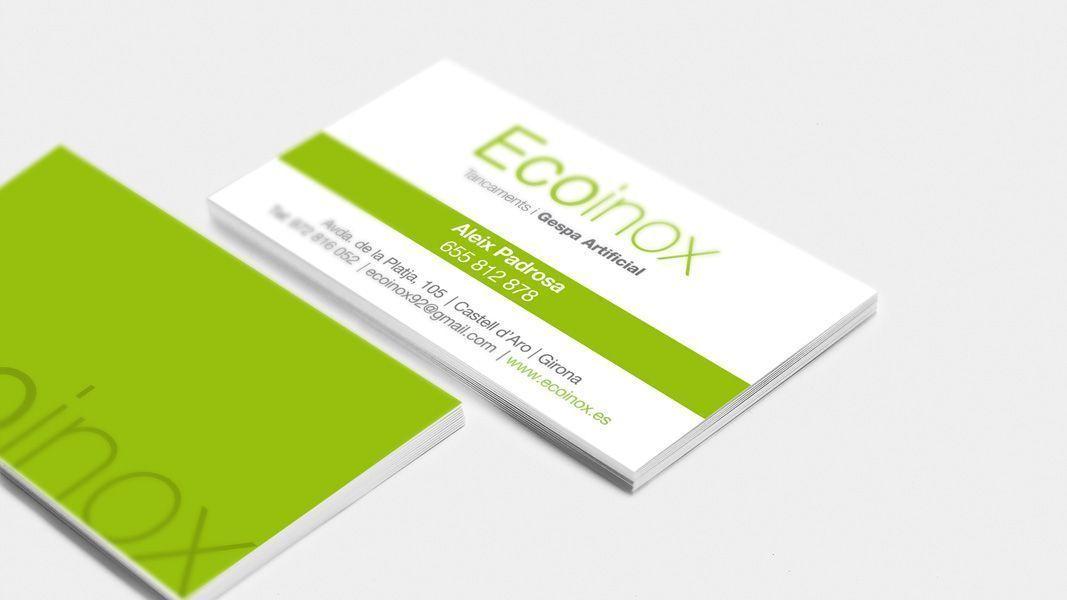 Tarjetas visita Econiox