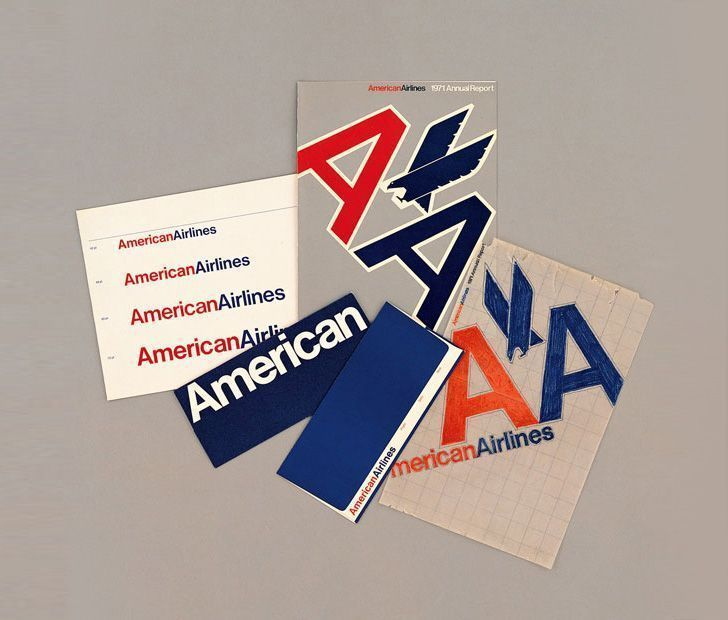 Logo American Airlines de Massimo Vignelli