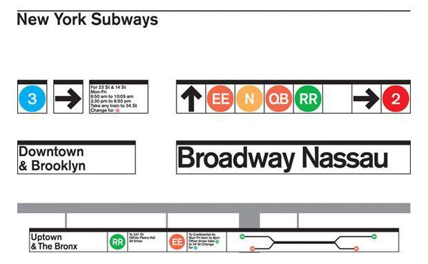 Diseño plano metro nueva York Massimo Vignelli