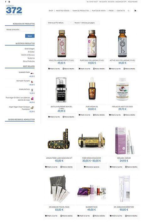 Tienda Online Productos Cosmética