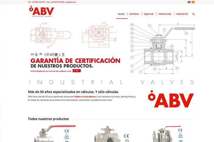 Detalle Web Corporativa ABV