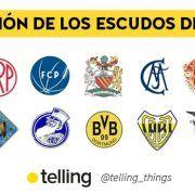 Evolución de los escudos de futbol