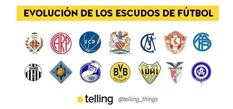evolución de los escudos de fútbol