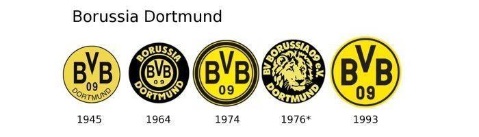 Evolución escudo Borussia