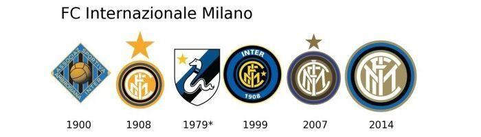 Evolución escudo Inter Milan