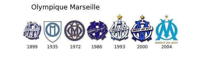 Evolución escudo Marsella