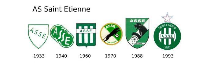 Evolución escudo Saint Ettienne