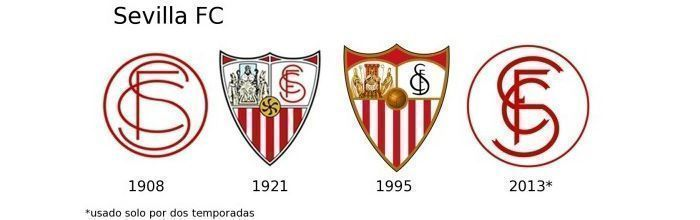 Evolución escudo Sevilla