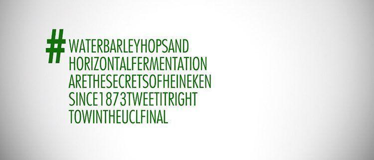 Hashtag de Heineken