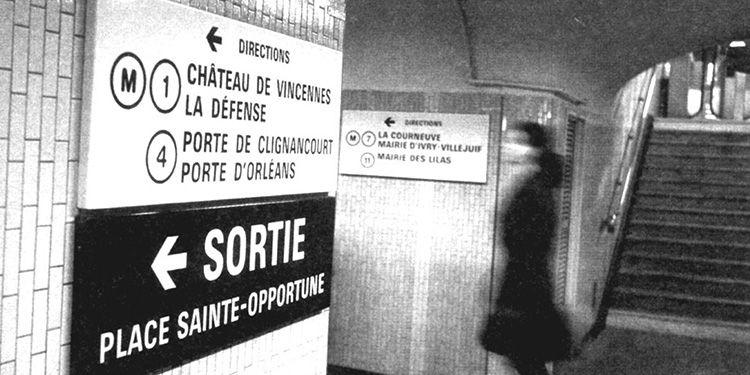 Tipografía Univers metro París