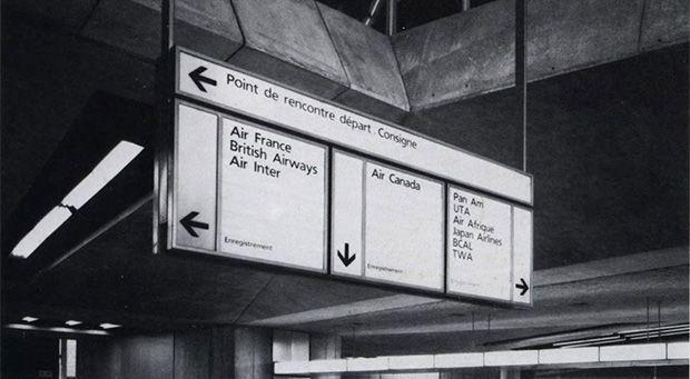 Tipografia Frutiger en Charles de Gaulle