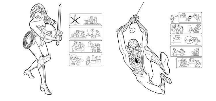 Superheroes Ikea