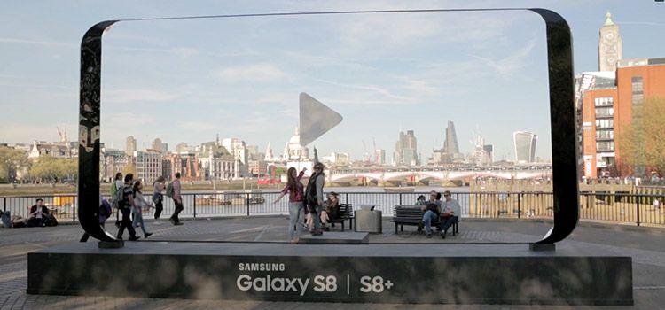 Publicidad Exterior de Samsung Galaxy S8