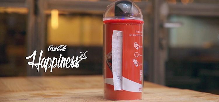 Servilletero de Coca-Cola